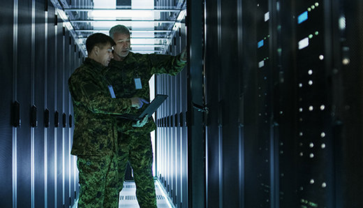 Government & military officials working on their hybrid cloud infrastructure.