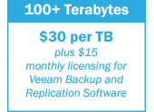 Backup 100+ terabytes of data - $30 per TB